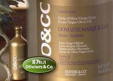 olio extravergine dop comaine marquillani oliviers