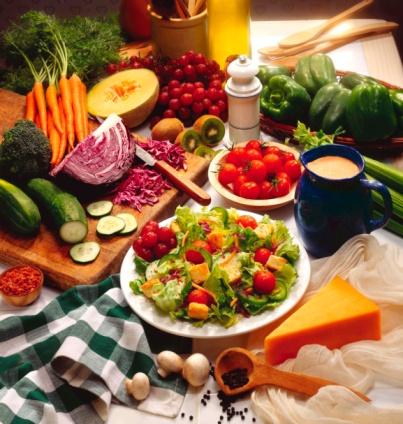 alimenti in tavola