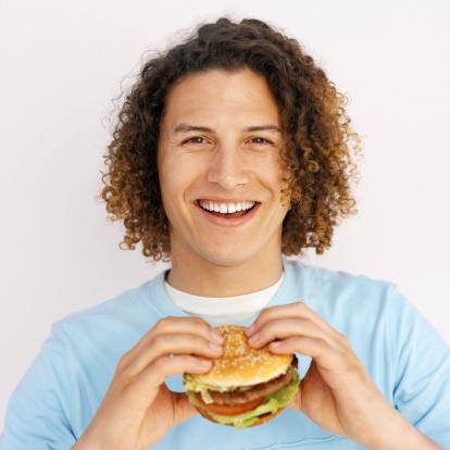 ragazzo hamburger