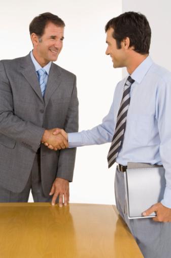 accordo commerciale businessmen
