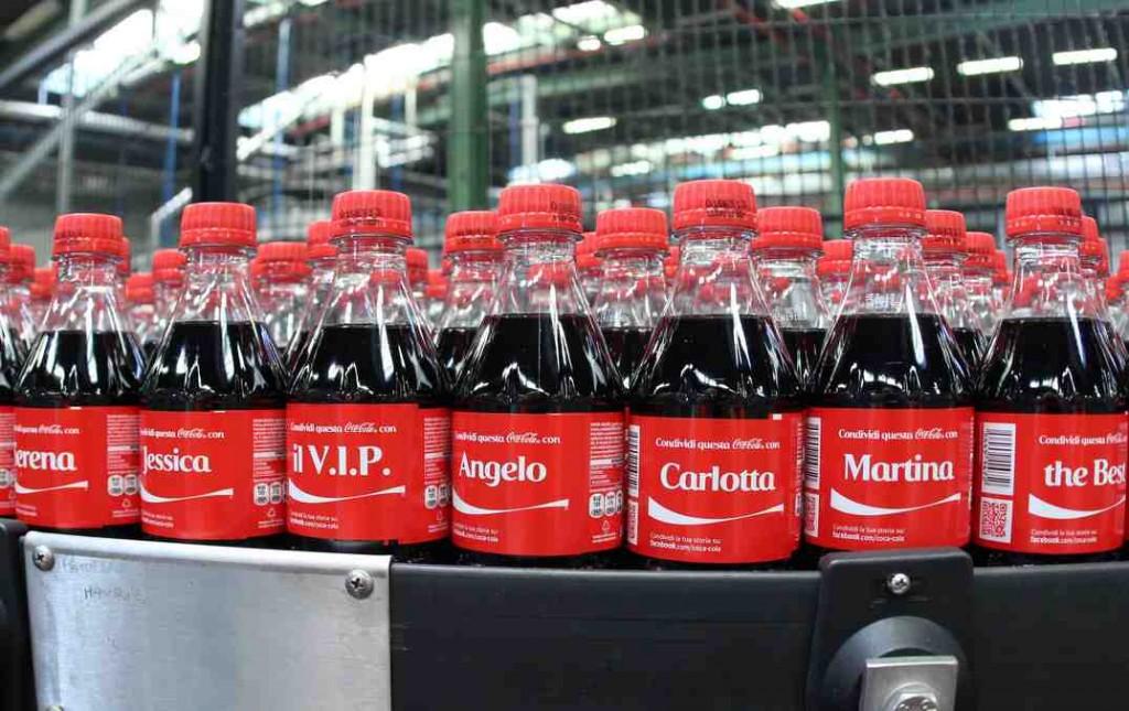 Coca cola con nome