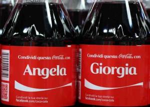 coca cola nomi bottiglie