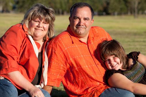 obesità famiglia