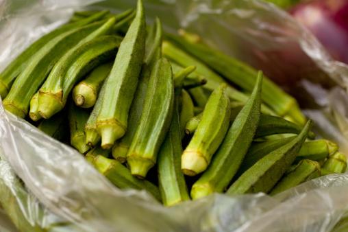 Okra verdura esotica