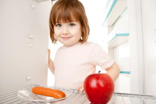 bambino frutta verdura scelta