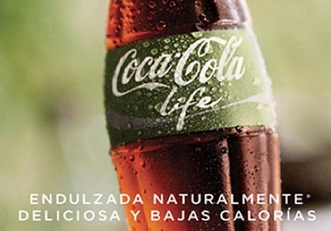 coca-cola life bottiglia