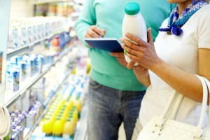 supermercato latte controllo