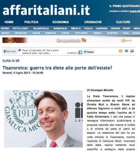 Dieta tisanoreica affari italiani