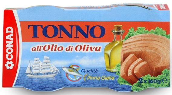 tonno conad olio