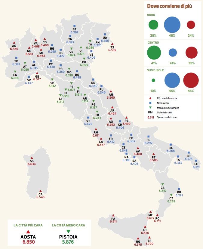 tab altroconsumo 2013 supermercati mappa