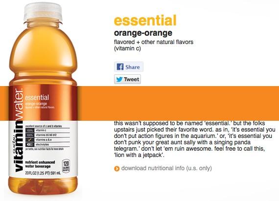 vitaminwater essential