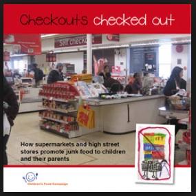 Junk Free Checkouts campagna uk cibo spazzaturaa