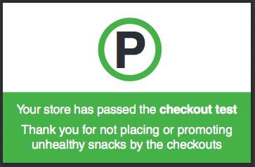 Junk Free Checkouts campagna uk4 cibo spazzatura