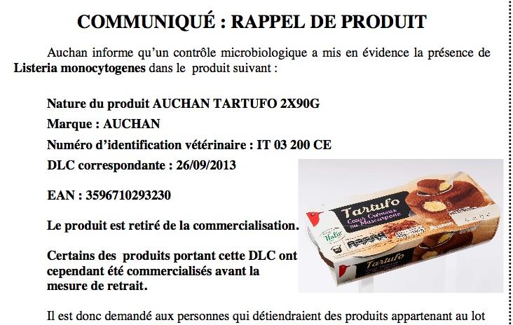 tartufo recall