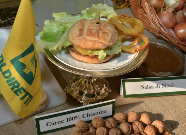 hamburger chianina coldiretti mcdonalds