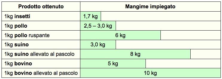 tab insetti conversione mangime animali