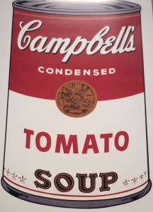 mostra Andy Warhol tomato rosso Campbell OGM