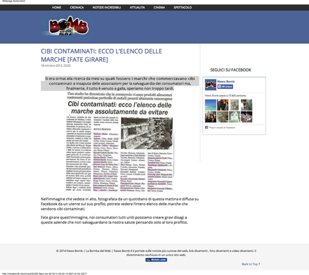 bufale rete bomb news