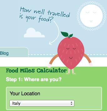 foodmiles viaggio del cibo calcola