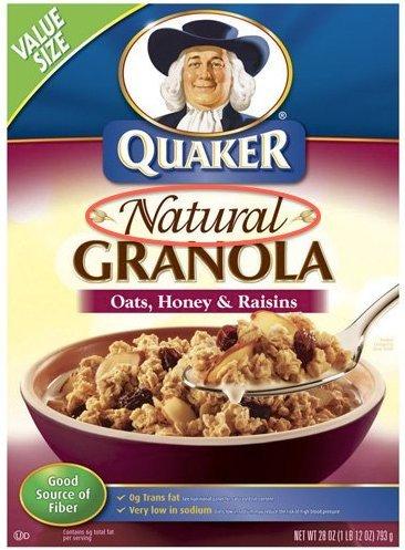 prodotto naturale quaker granola cereali pepsico