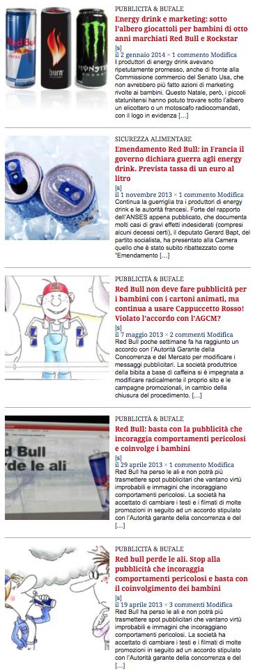 red bull articoli ifa