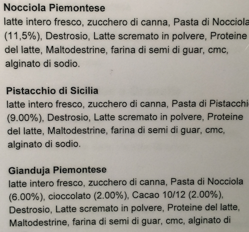 eataly gelato milano nocciola