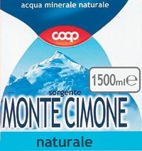 acqua minerale coop naturale monte cimone