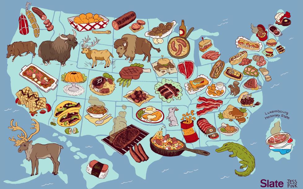 piatti tipici statunitensi united steaks of america