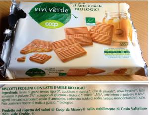 olio di palma biscotti coop novellini