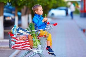 supermercato , carrello , bambino