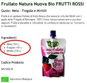 Frutta Frullata ingredienti
