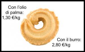 biscotto olio palma burro