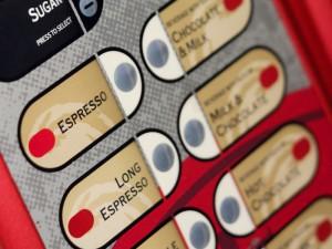 Coffee machine keypad