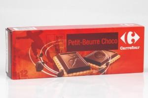 Carrefour Petit beurre choco noir