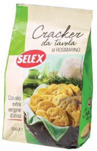selex cracker da tavola al rosmarino