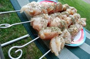 spiedini pollo salmonella