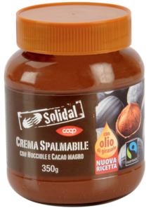 crema spalmabile nocciole cacao coop solidal fairtrade 2016