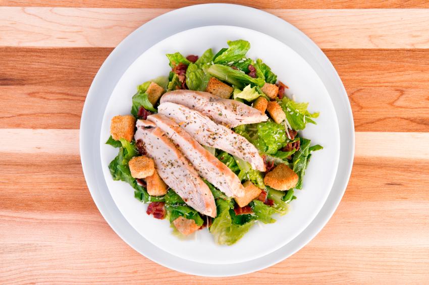 Fresh chicken ceasar salad