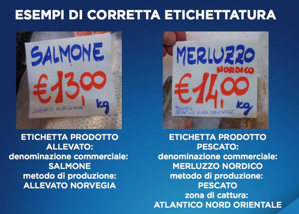 etichette pesce