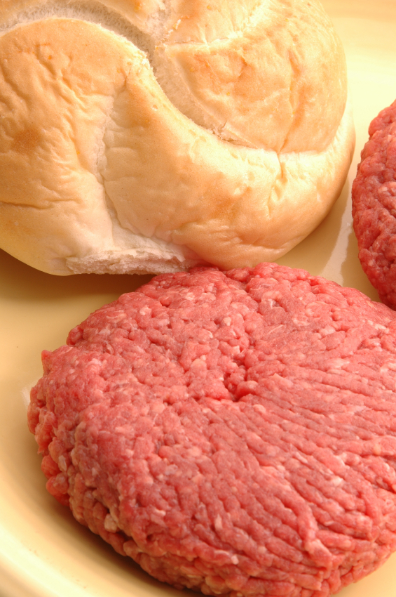 hamburger patties with bun