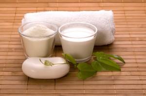milk bath. white spa
