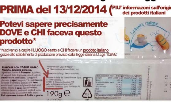 etichetta stabilimento di produzione