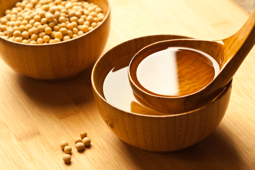 Soybean oil and raw materials