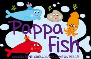 pappa fish logo nero mensa scolastiche