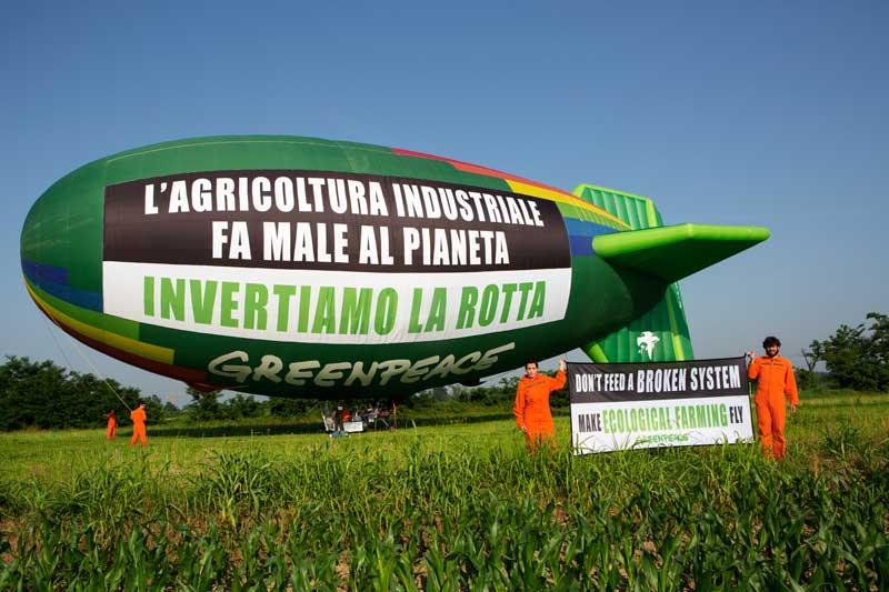 greenpeace dirigibile