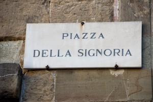 piazza della signoria sign in florence