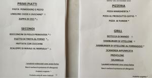 Foto del menu scattata dalla signora  (clicca per ingrandire)