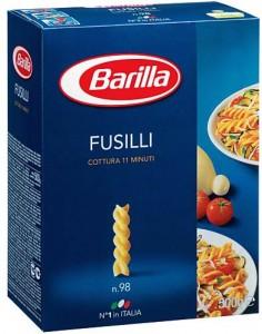 pasta barilla fusilli cartone