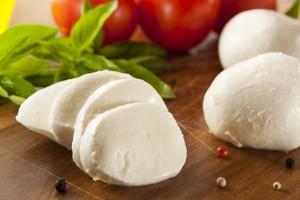 Homemade mozzarelle di bufala Organic Mozzarella Cheese