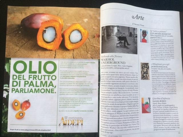 pubblicita olio palma